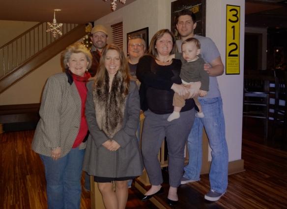 Raymond's Family.  Raymond's Mom, Raymond, Me, Raymond's Dad, Sister-in-law, Nephew, Brother