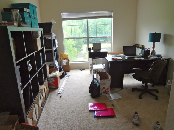 Office on moving day.  It was a mess!