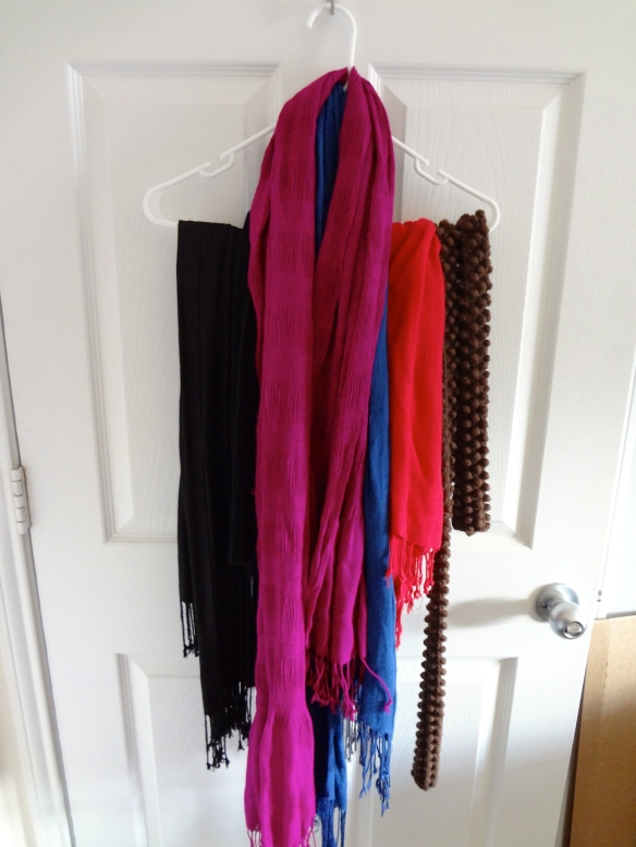 Unorganized Scarves {Before}
