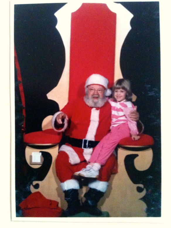 Me with Santa .. not sure what year :)