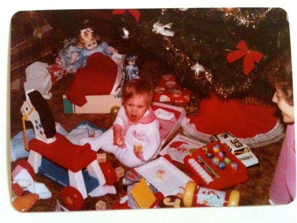 My first Christmas {December 1983}