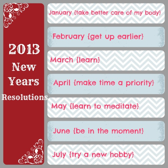 Pure & Simple 2013 Resolutions