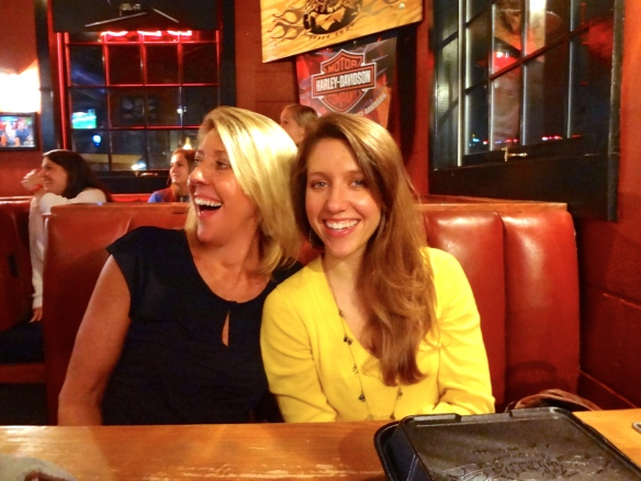 Mom & I having some fun at the Birthday Dinner :)