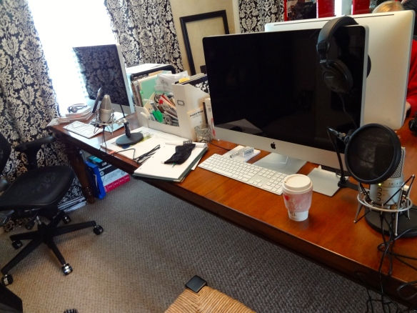 Tracey's workstation. Fort Mill Magazine Headquarters.