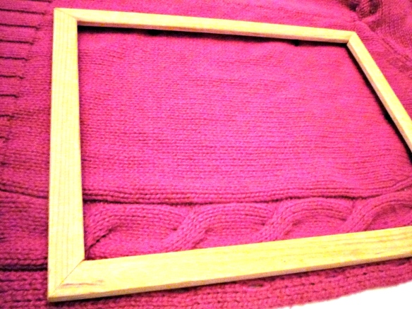 Supplies: Sweater, Wooden picture frame