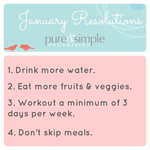 Pure & Simple | January Resolutions