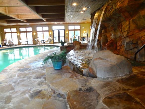 Rock Barn Spa -- Waterfall pool