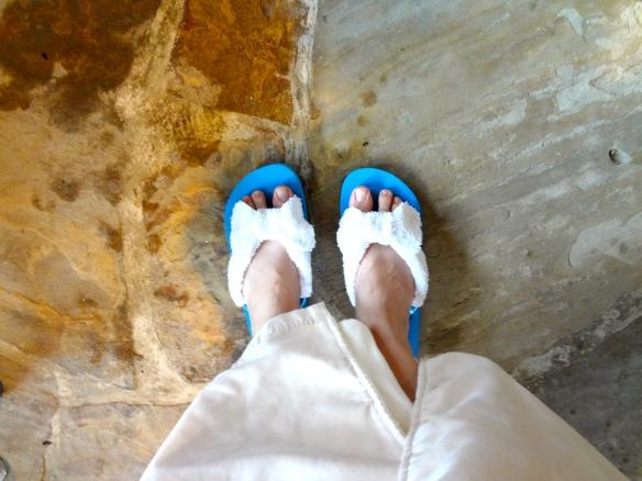 DIY Spa Sandals