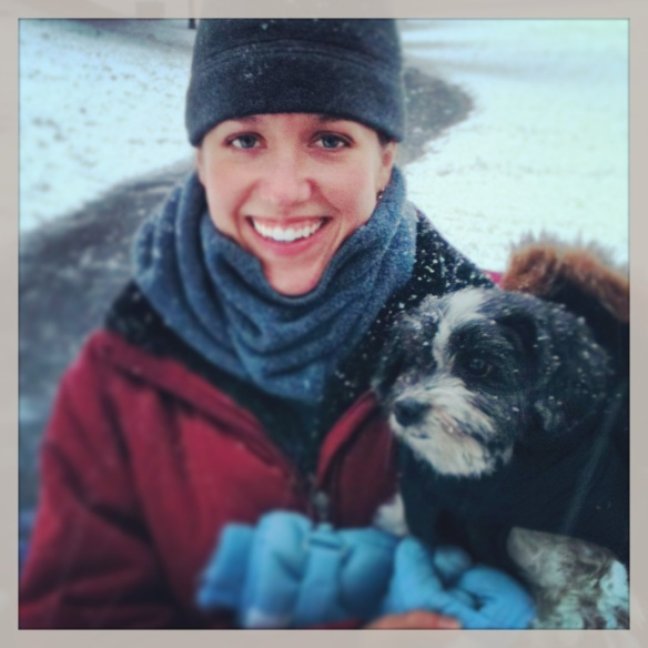 Me & Cody playing in the snow. :)