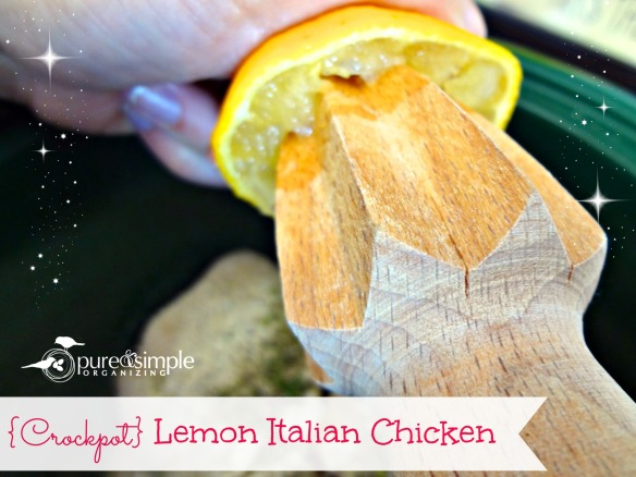 Crockpot Lemon Italian Chicken Recipe | Pure & Simple