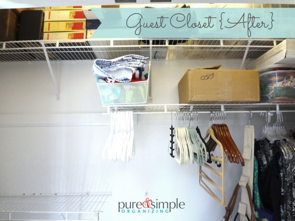 Guest Closet After | Pure & Simple