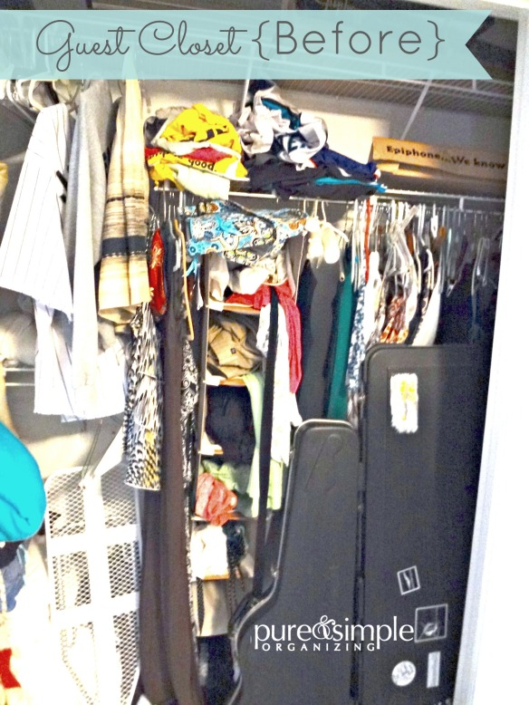 Guest Closet Before   Pure & Simple