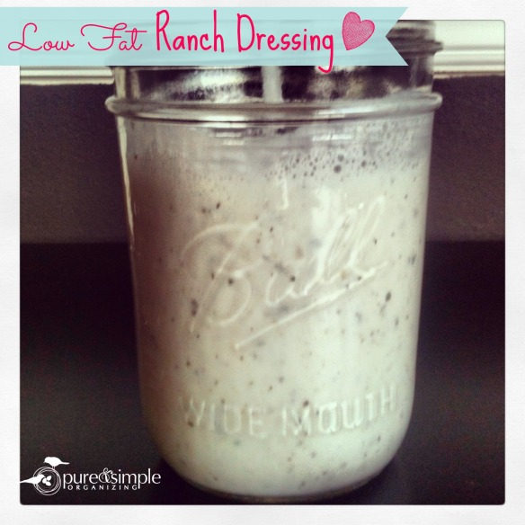 Low Fat Ranch Dressing Recipe | Pure & Simple