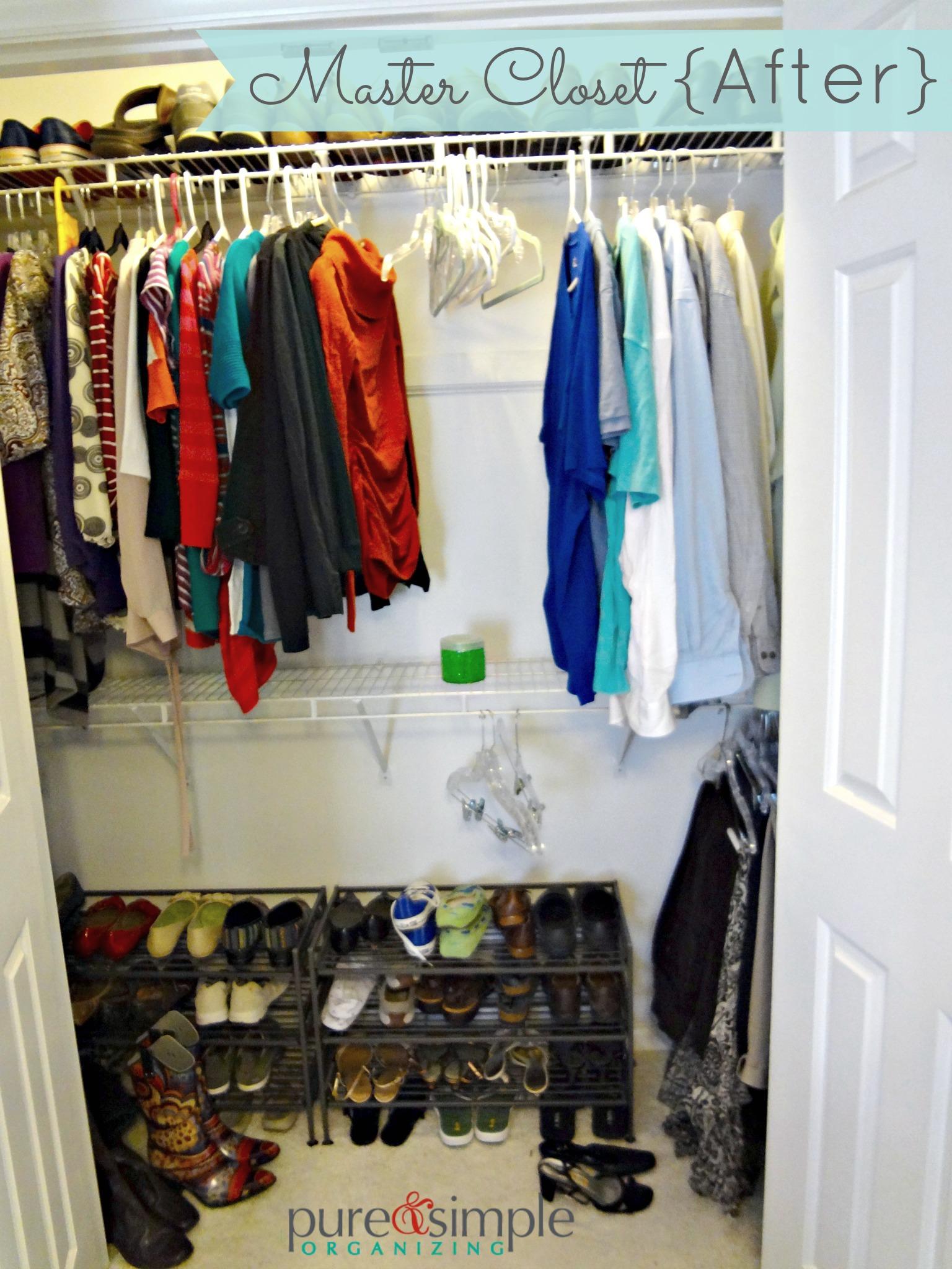 Master Closet After | Pure U0026 Simple