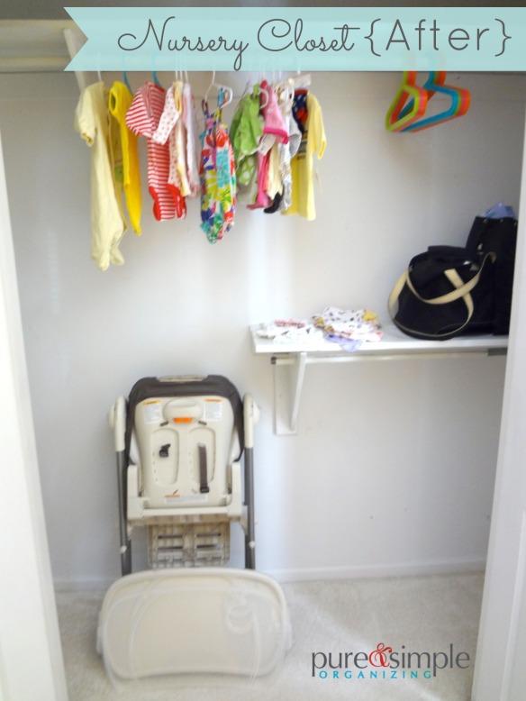 Nursery Closet After| Pure & Simple