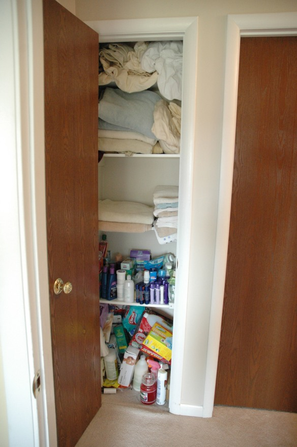 Linen Closet Before | Pure & SImple