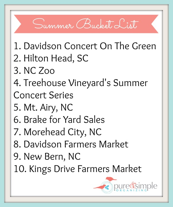Summer Bucket List | Pure & Simple