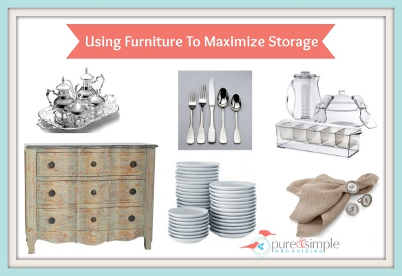 Using Storage To Maximize Furniture | Pure & Simple
